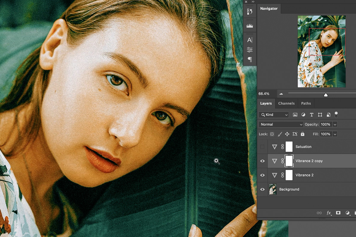 vibrance vs saturation photoshop