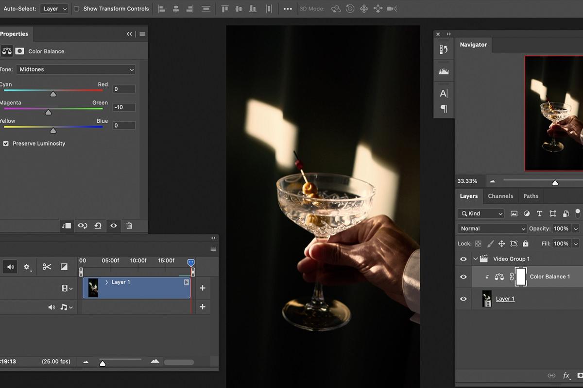 color grade video photoshop