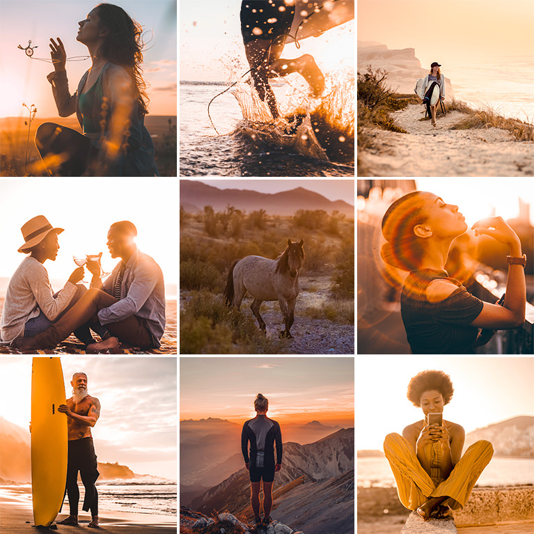 sunset tone lightroom presets
