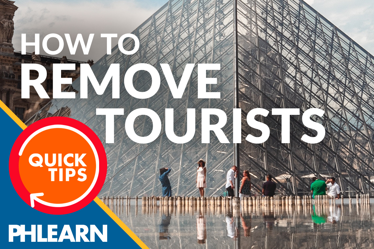 remove tourists from a photo photoshop