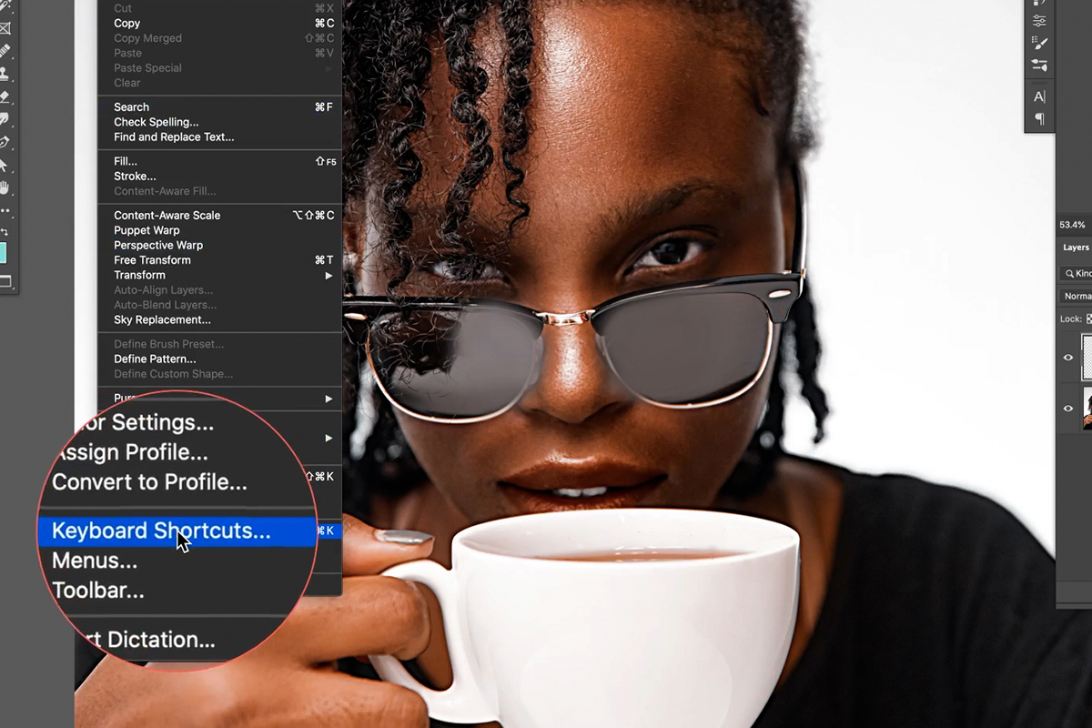 create keyboard shortcuts in photoshop