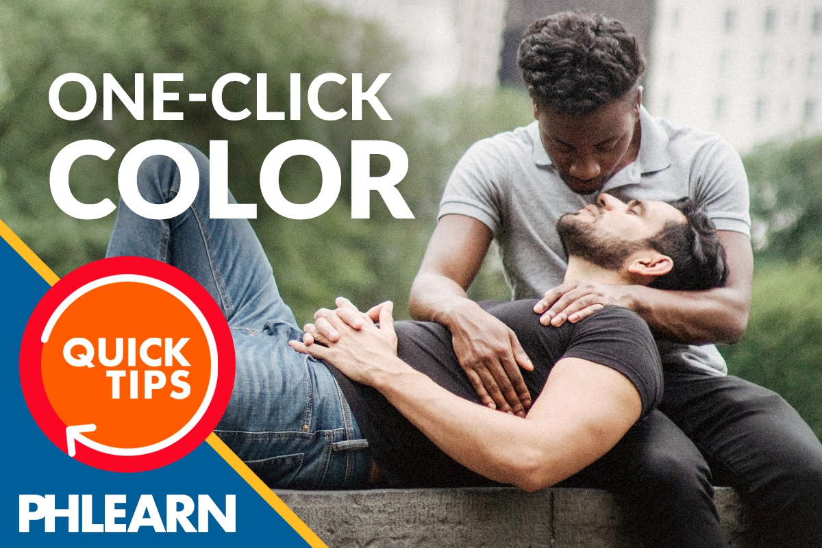 one click color correct in photoshop