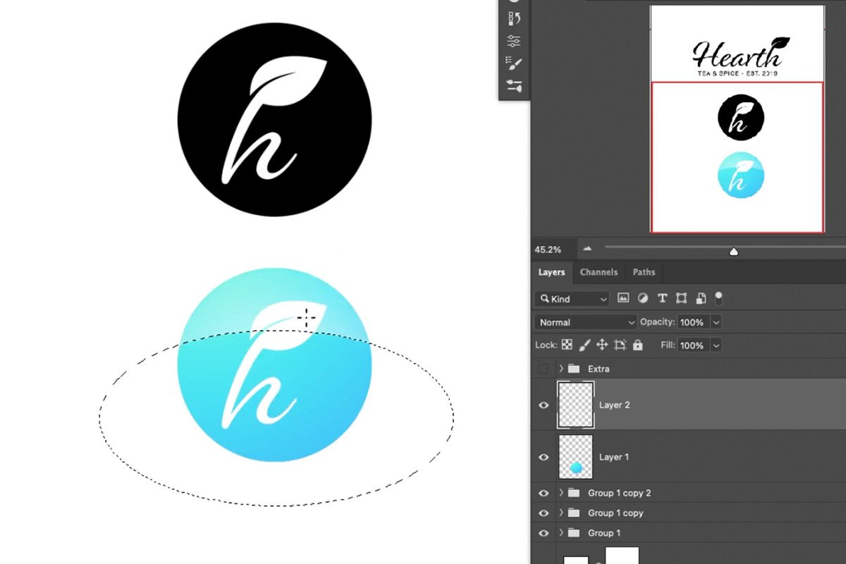 simple logo in photoshop