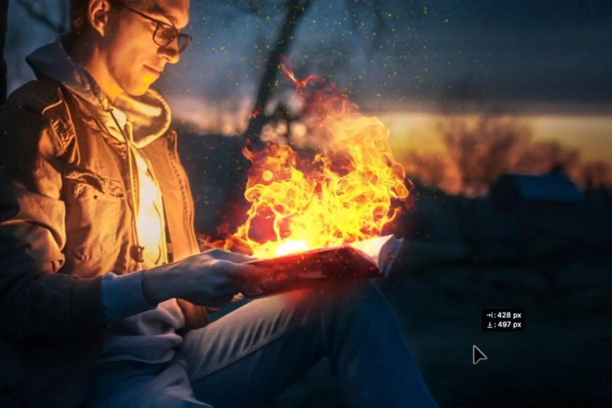 realistic fire photoshop