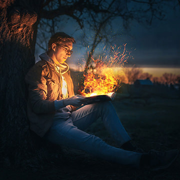 realistic fire photoshop