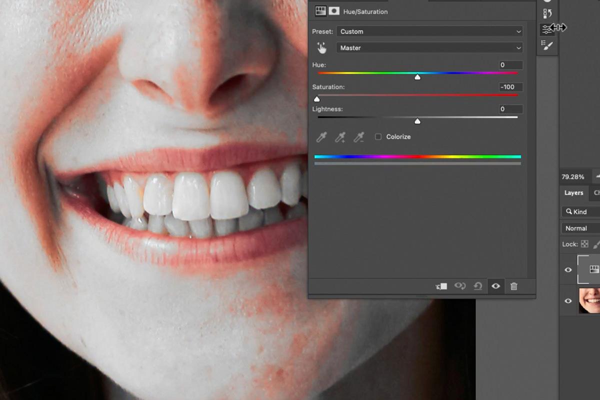 whiten teeth photoshop