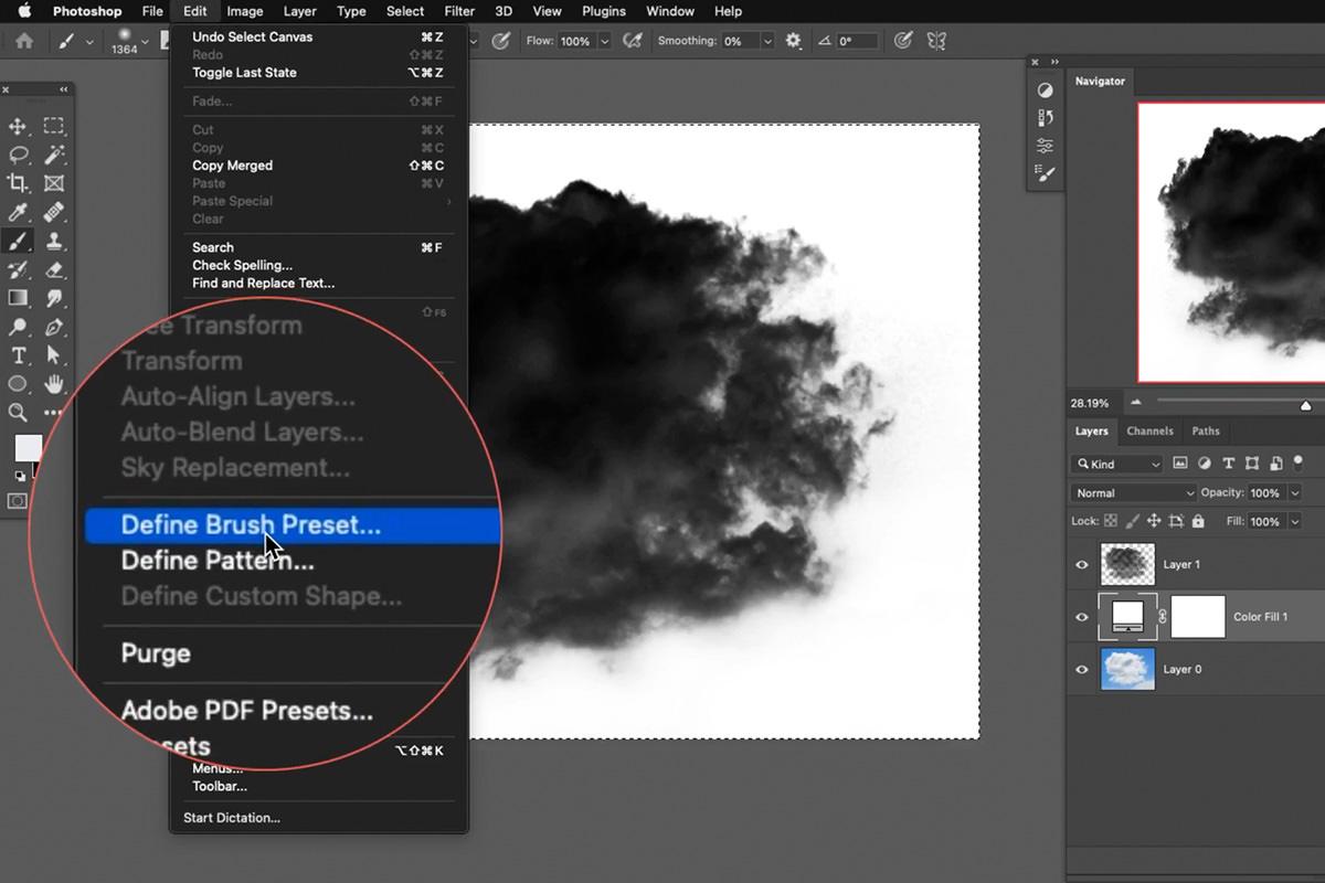 fog brush effect photoshop
