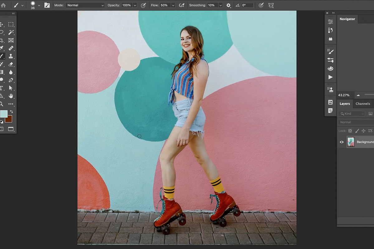 match clothing color to any background in photoshop