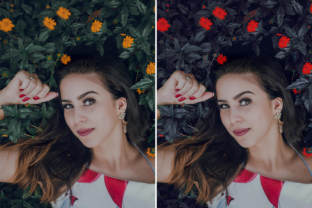 change color of plants and flowers in photoshop