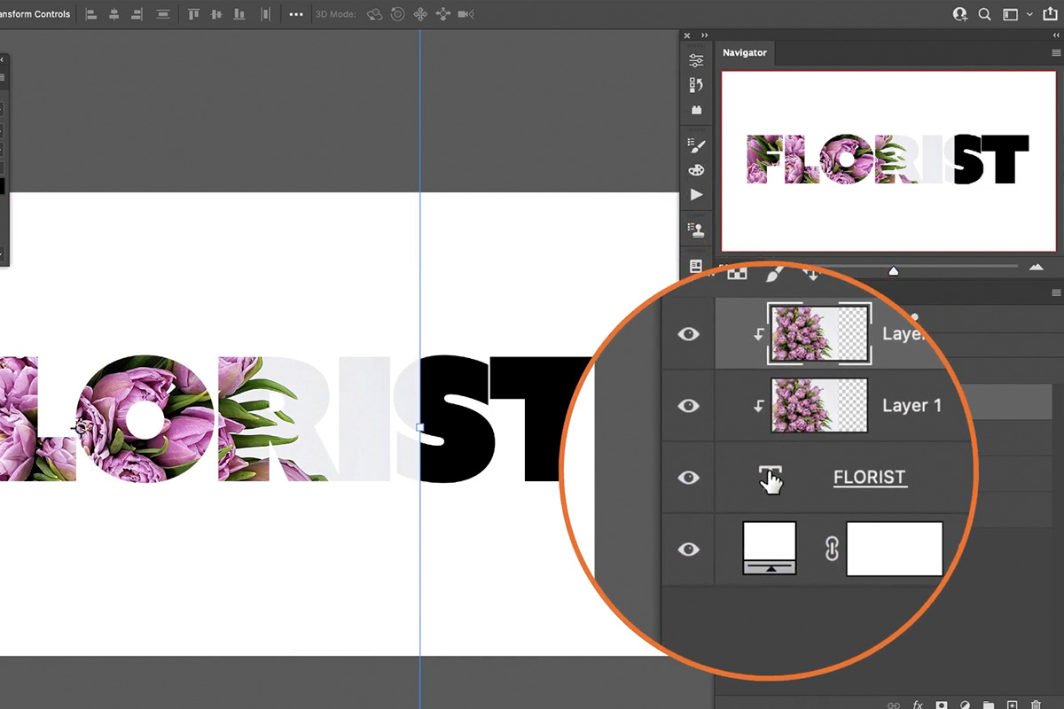 fill text with an image in Photoshop
