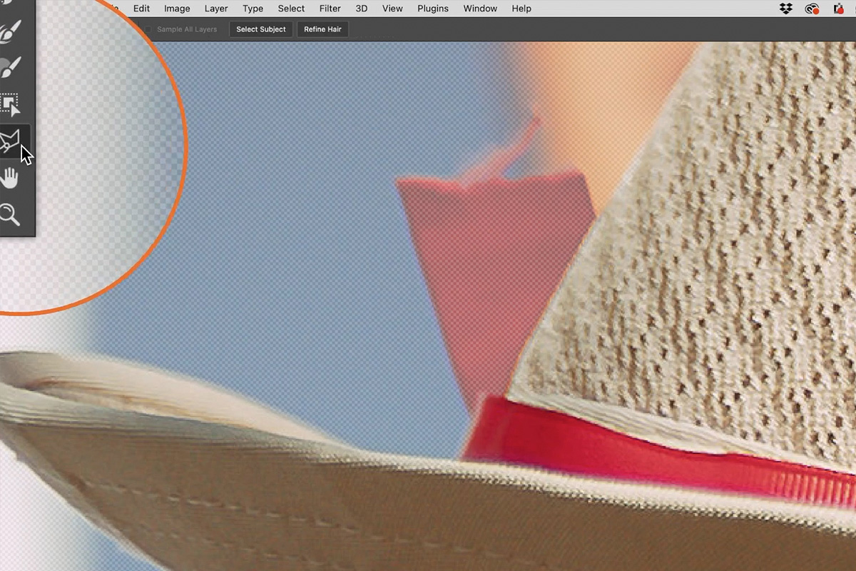 select and mask workspace photoshop