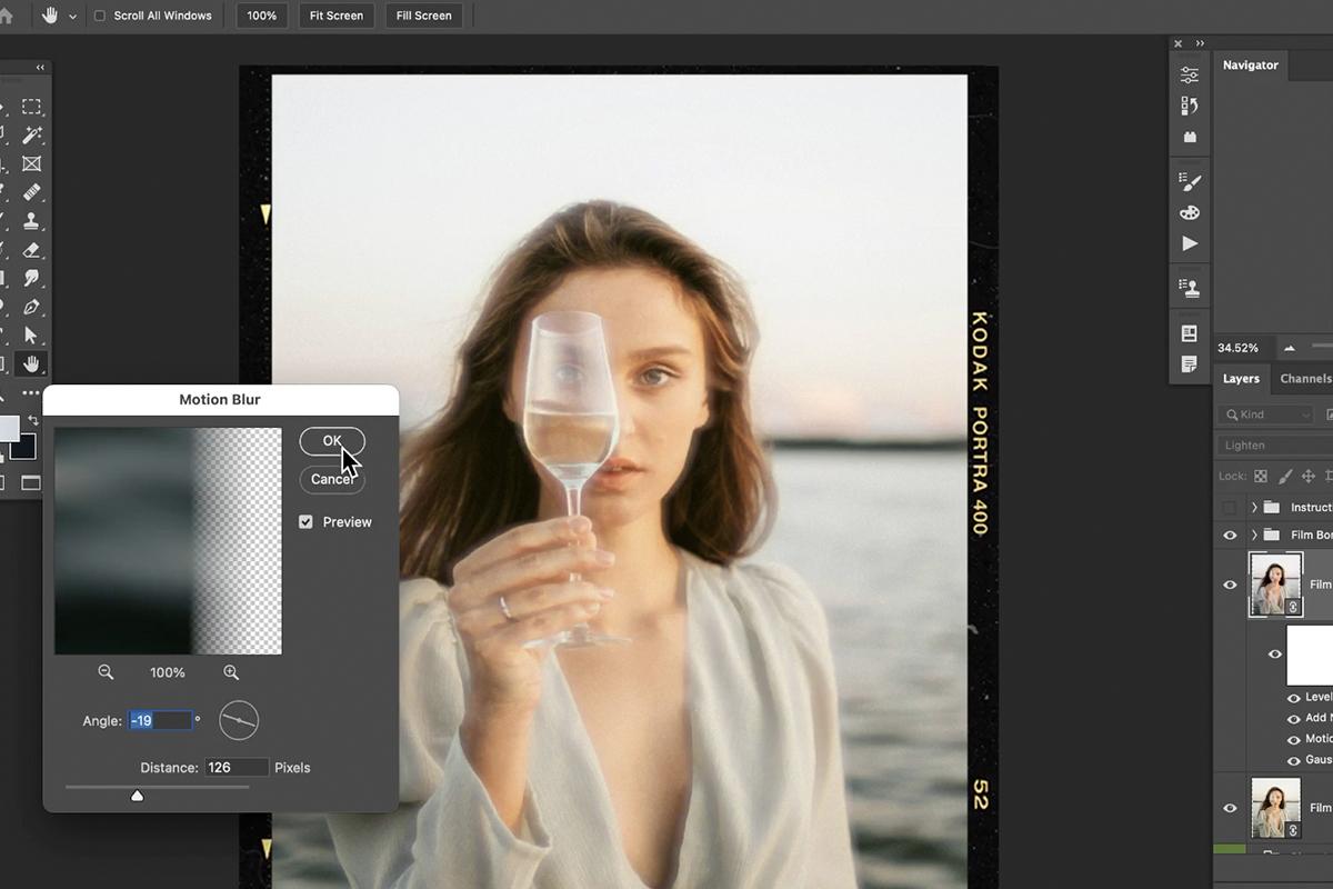 film effect photoshop