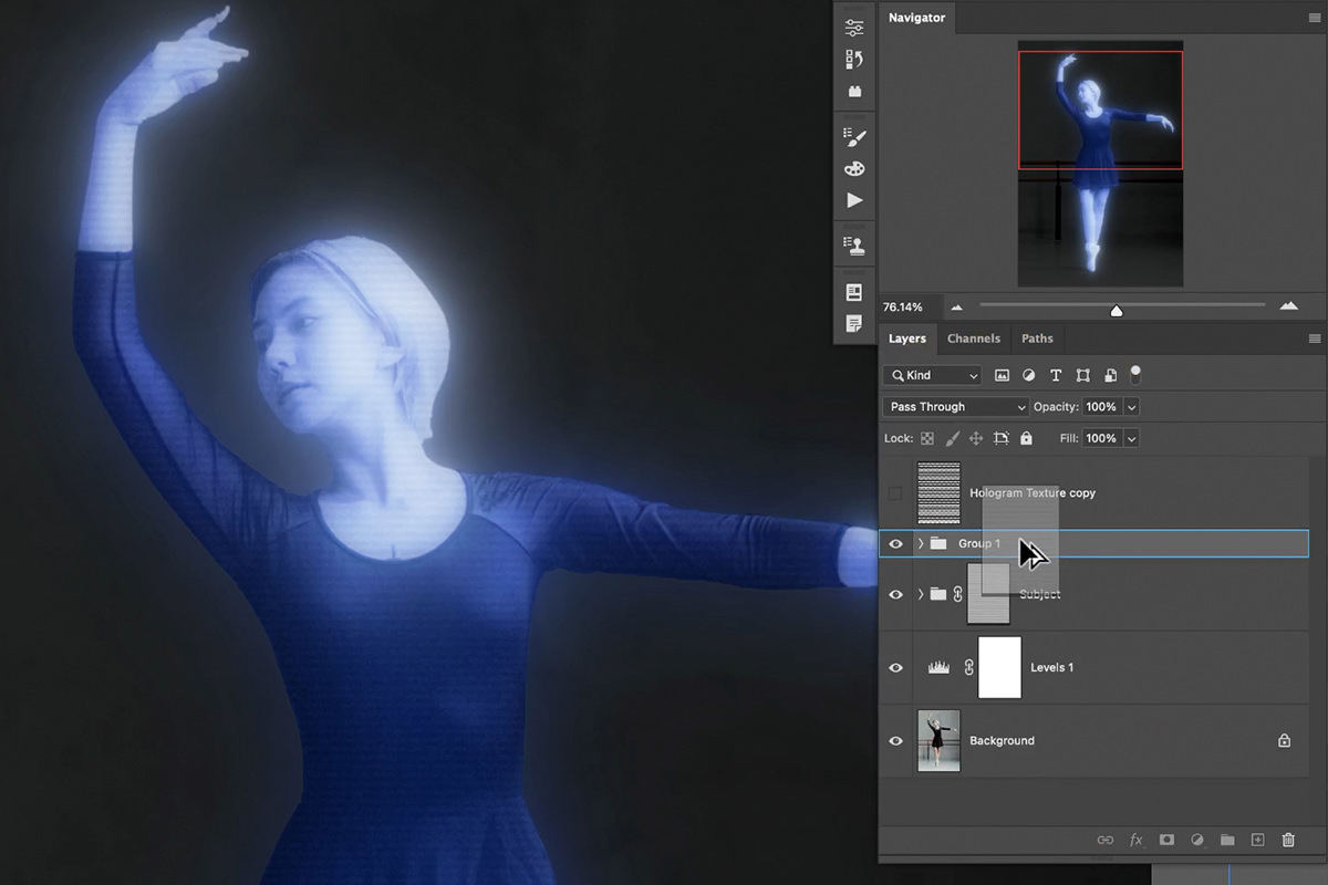 hologram effect in photoshop