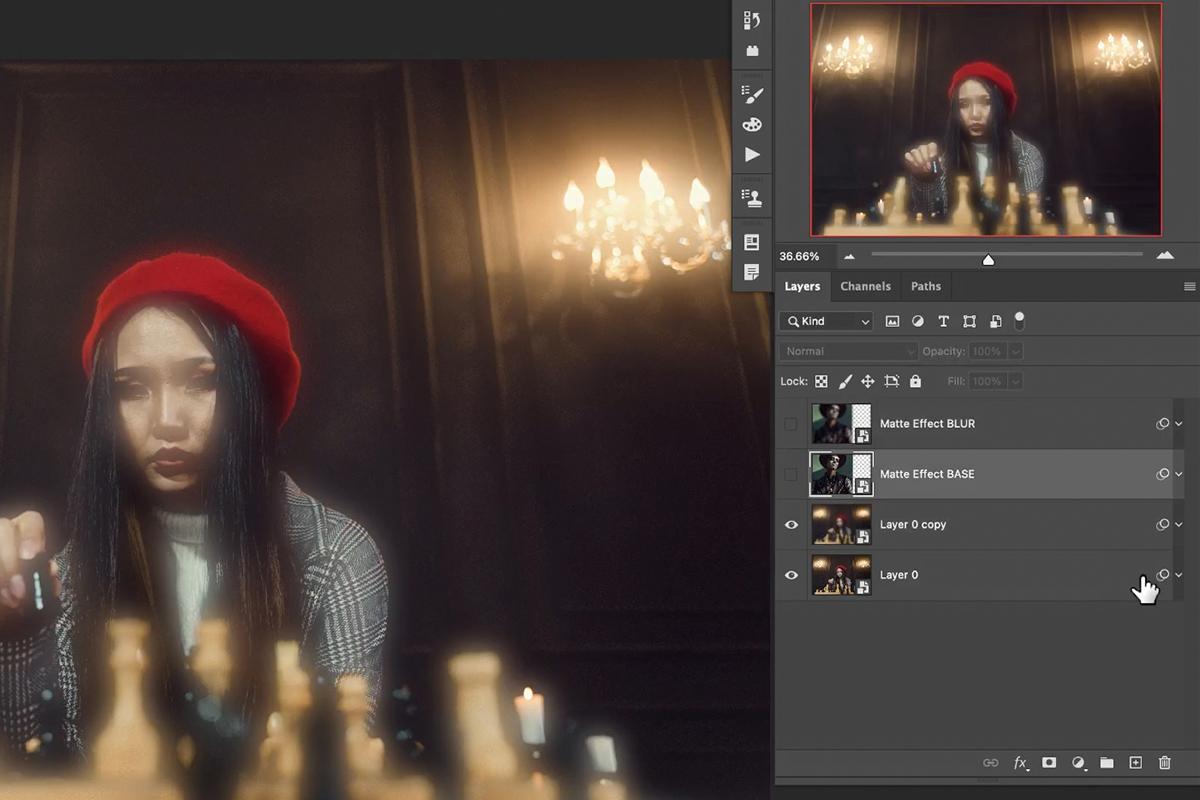 matte effect photoshop