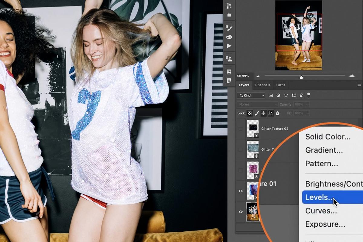 create glitter effect photoshop