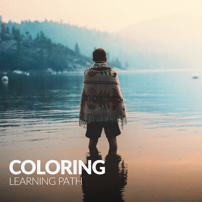 coloring learning path